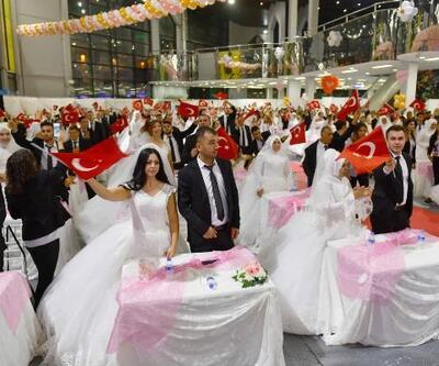 Başkent'te 219çifte toplu nikah töreni
