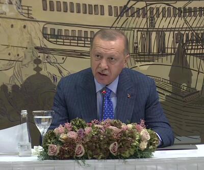 CumhurbaşkanıErdoğan, medya yöneticileriyle bir araya geldi