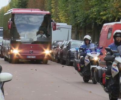A Milli Takım yoğun güvenlik önlemleri altında Paris'te