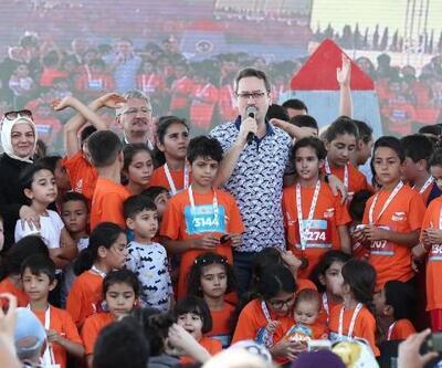 'Çocuk Maratonu'na katılan çocuklar doyasıya eğlendi
