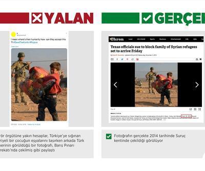 """Barış Pınarı Harekatı aleyhinde """"kaçan sivillerin"""" fotoğraflarıyla manipülasyon girişimi"""