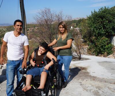 Bedensel engelli Berat'ın eğitimi için yol yapıldı