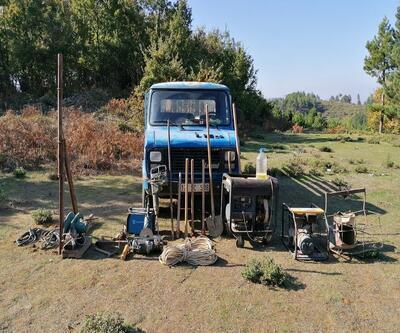 Çanakkale'de izinsiz kazı yapanlara operasyon düzenlendi