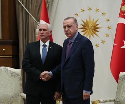 Cumhurbaşkanı Erdoğan'ın Pence'i kabulü sona erdi