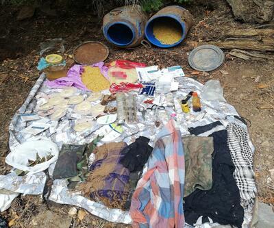 Amanoslar'da PKK sığınağı ve erzak deposu bulundu