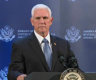 ABD Başkan Yardımcısı Mike Pence açıklamalarda bulunuyor