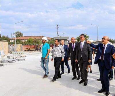 Vali Mahmut Demirtaş, okul inşaatlarında incelemelerde bulundu