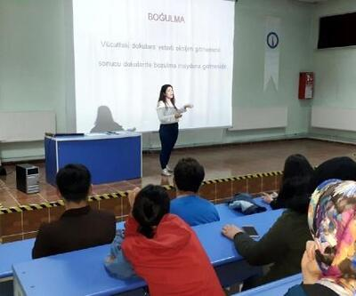 Hisarcık'ta ilk yardım kursuna yoğun ilgi