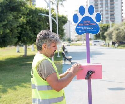 Mersin'e köpek atık istasyonu hizmette