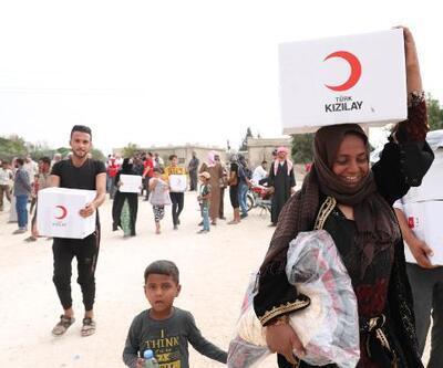 Kızılay, Resulayn ve Tel Abyad'da 10 bin kişiye yardımda bulundu