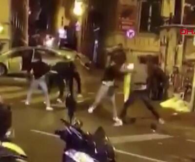 Beyoğlu'ndaki kemerli kavga kamerada