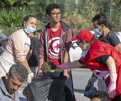Tunus'ta temizlik kampanyası