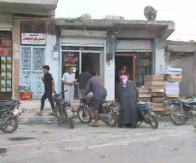 Tel Abyad'ta kepenkler açıldı, halk sokağa çıktı