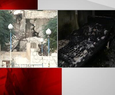 CNN TÜRK teröristlerin yaktığı hastaneyi görüntüledi