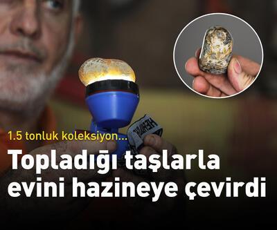Topladığı taşlarla evini hazineye çevirdi