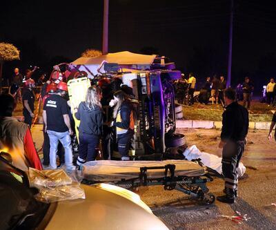 Otomobille kamyon çarpıştı: 1 ölü, 3 yaralı