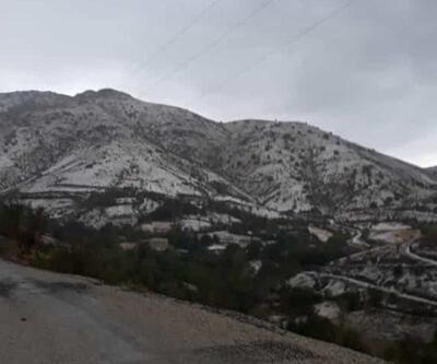 Elazığ'ın yüksek kesimlerine kar yağdı