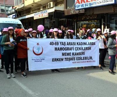 Kırıkhan'da meme kanseri farkındalık etkinliği