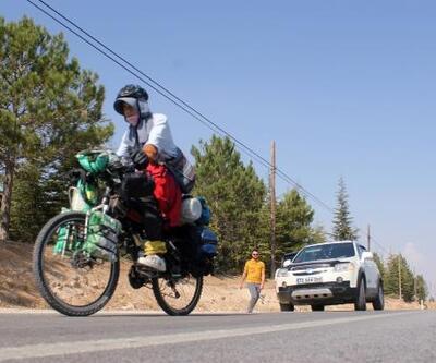 Japon gezgin, 10 yıldır bisikletiyle dünya turu yapıyor