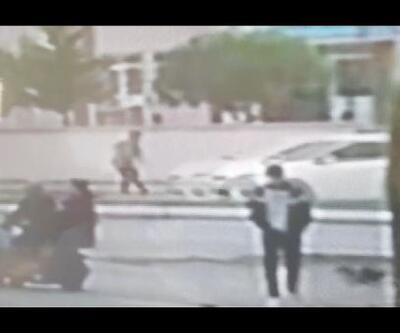 Otomobilin lise öğrencisine çarptığı kaza, kamerada