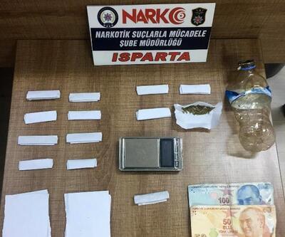 Isparta'da uyuşturucu operasyonlarında 5 tutuklama