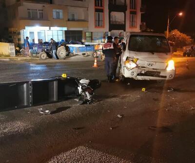 Kamyonet ile çarpışan motosikletin sürücüsü öldü