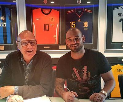 Wesley Sneijder imzayı attı