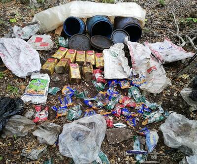 Amanos Dağı'nda PKK'ya ait yaşam malzemeleri ele geçirildi