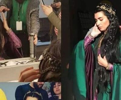 Tuba Büyüküstün'ün Ottoman Rising setinden yeni görüntüleri ortaya çıktı