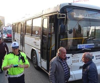 Halk otobüsünün öğrenciye çarpma anı kamerada