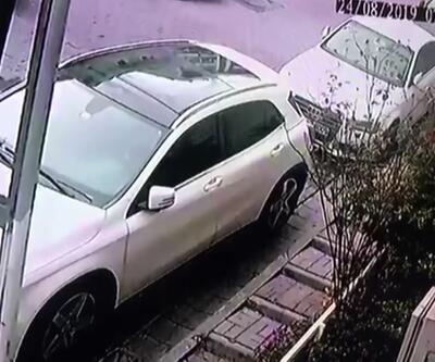 Cama tırmanan hırsız kameraya yakalandı