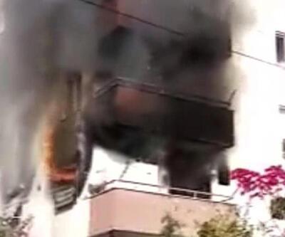Eşine sinirlenen kadın evi ateşe verdi