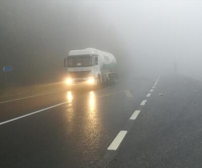 Bolu Dağı geçişinde sis etkili oluyor