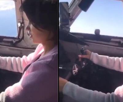 Yolcuların canını hiçe saydı! Sevgilisini kokpite alarak uçak kullanmayı öğretti