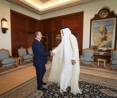Çavuşoğlu Katar'da mevkidaşı ile görüştü