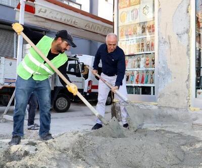 Akdeniz Belediyesi'nden Şevket Sümer Mahallesi'ne cadde ve pazar çalışması