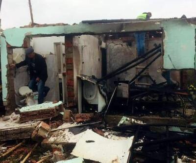 Evde çıkan yangında 1 kişi ağır yaralandı