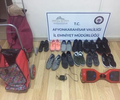 Ayakkabı hırsızı trende yakalandı