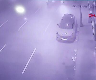 Kağıthane'deki feci kaza kamerada