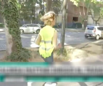 Belediye başkanı gazetecilerden kaçtı