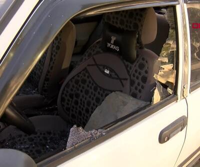 6 aracın camları kırıldı
