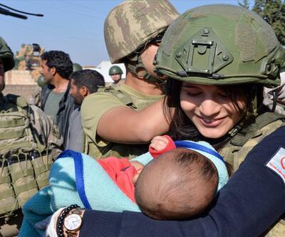 Resulayn'ın doğusunda insani yardımlar dağıtıldı