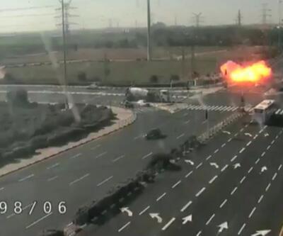 İsrail'e atılan roket yola böyle düştü!