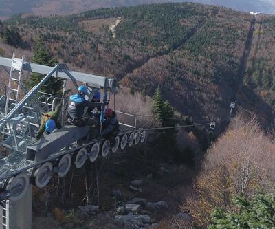 165 metre yüksekte tehlikeli görev