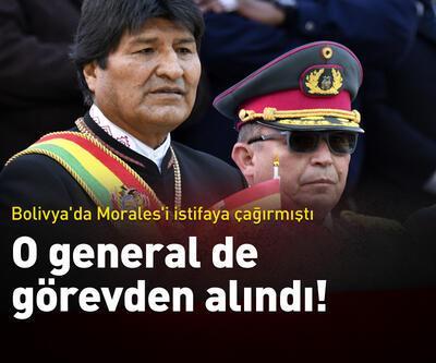 Morales'i istifaya çağıran general de görevden alındı