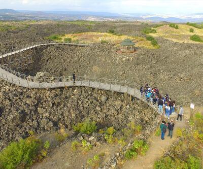Manisa'daki volkanik jeopark öğrencilere açık derslik oldu