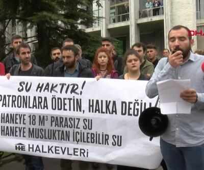 """İBB önünde """"su zammı"""" protestosu"""