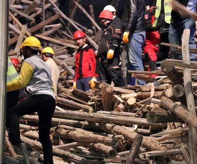 Cami inşaatında çökme: mühendis enkaz altında kaldı