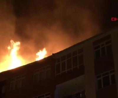 Bahçelievler'de mahalleliyi korkutan yangın