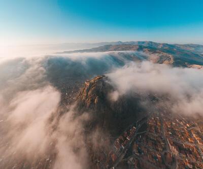 Karahisar Kalesi'nde eşsiz manzara